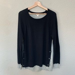 J.Crew Factory Elbow Patch Color Block Sweater